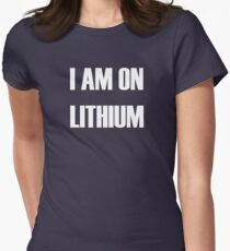 Lithium - white text Women's Fitted T-Shirt
