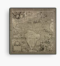 1562, The Americas, or A New and Precise Description of the Fourth Part of the World Canvas Print