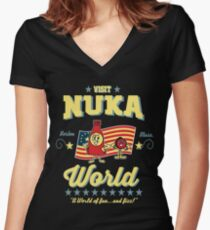 Nukatastic Women's Fitted V-Neck T-Shirt