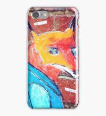 Fox on bricks iPhone Case/Skin
