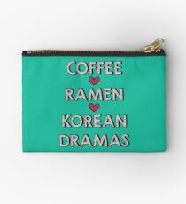 Coffee - Ramen - Korean Dramas Studio Pouch