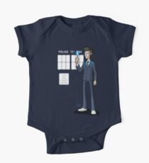 The 10th Doctor Short Sleeve Baby One-Piece