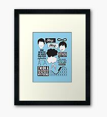 The Fault In Our Stars Collage Framed Print