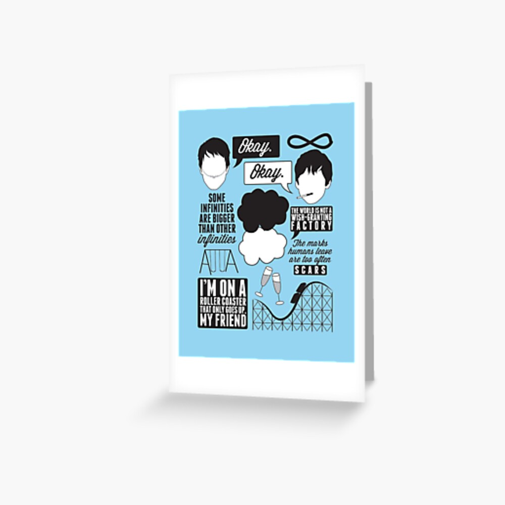 The Fault In Our Stars Collage Greeting Card