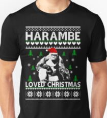 Harambe loved Christmas sweater Unisex T-Shirt