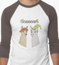 Llamas with Hats - Caaaarl Men's Baseball ¾ T-Shirt