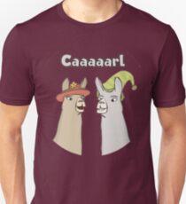 Llamas with Hats - Caaaarl Unisex T-Shirt