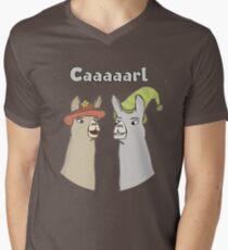 Llamas with Hats - Caaaarl Men's V-Neck T-Shirt