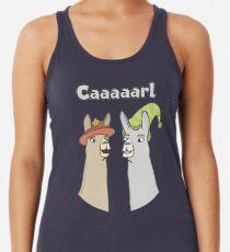 Llamas with Hats - Caaaarl Racerback Tank Top