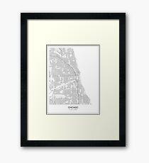 Chicago Minimalist Map Framed Print