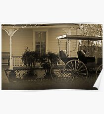 Old house and wagon Poster