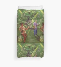 Party On The Patio 3 Lizard Duvet Cover