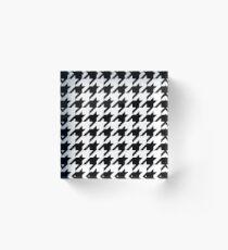 Houndstooth Pixel Pattern – Acrylic Block Acrylic Block
