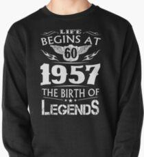 Sudadera cerrada La vida comienza en 60 1957 El nacimiento de las leyendas