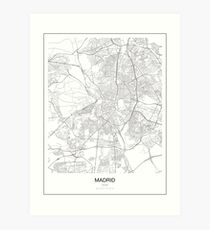 Madrid Minimalist Map Art Print