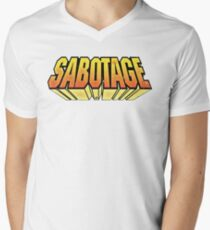 Camiseta para hombre de cuello en v SABOTAJE (1994)