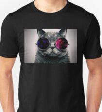 Space Glasses Cat Unisex T-Shirt