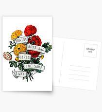 Raise Boys und Girls auf die gleiche Weise Postkarten