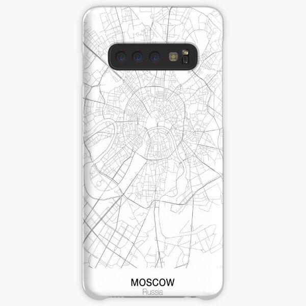 Moskau minimalistische Karte Samsung Galaxy Leichte Hülle
