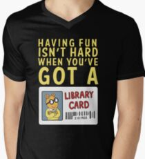 Arthur Library Card Men's V-Neck T-Shirt