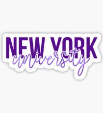 New York University - Style 13 Sticker
