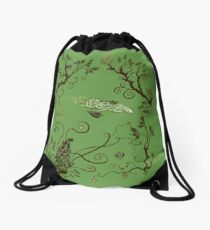 Firefly in Eden Drawstring Bag