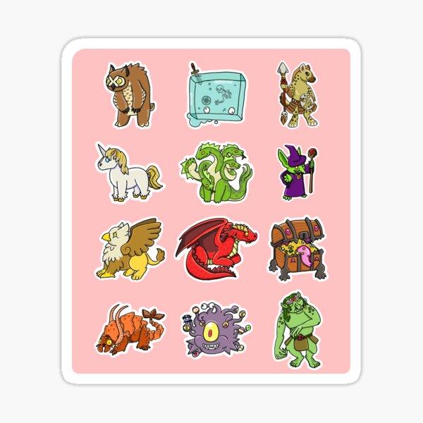 DnD Monsters Sticker