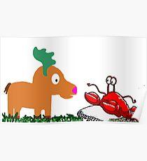 Moose Meets Crab Poster