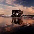 Peter Iredale Shipwreck at Fort Stevens State Park, Oregon. by Alex Preiss