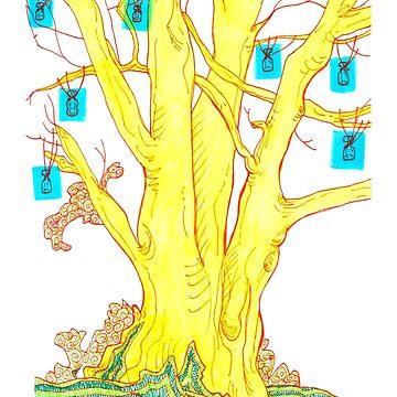 blue bottle tree by HiddenStash
