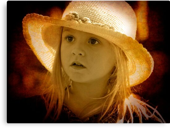 A little girl at the Markets by Clare Colins