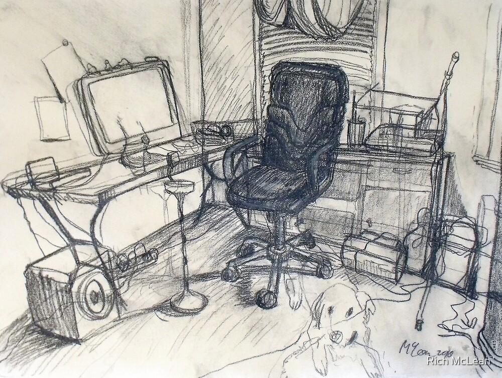 Steinberg my Dog in my Studio by Rich McLean
