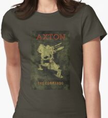Axton Vintage Borderlands Graphic Women's Fitted T-Shirt
