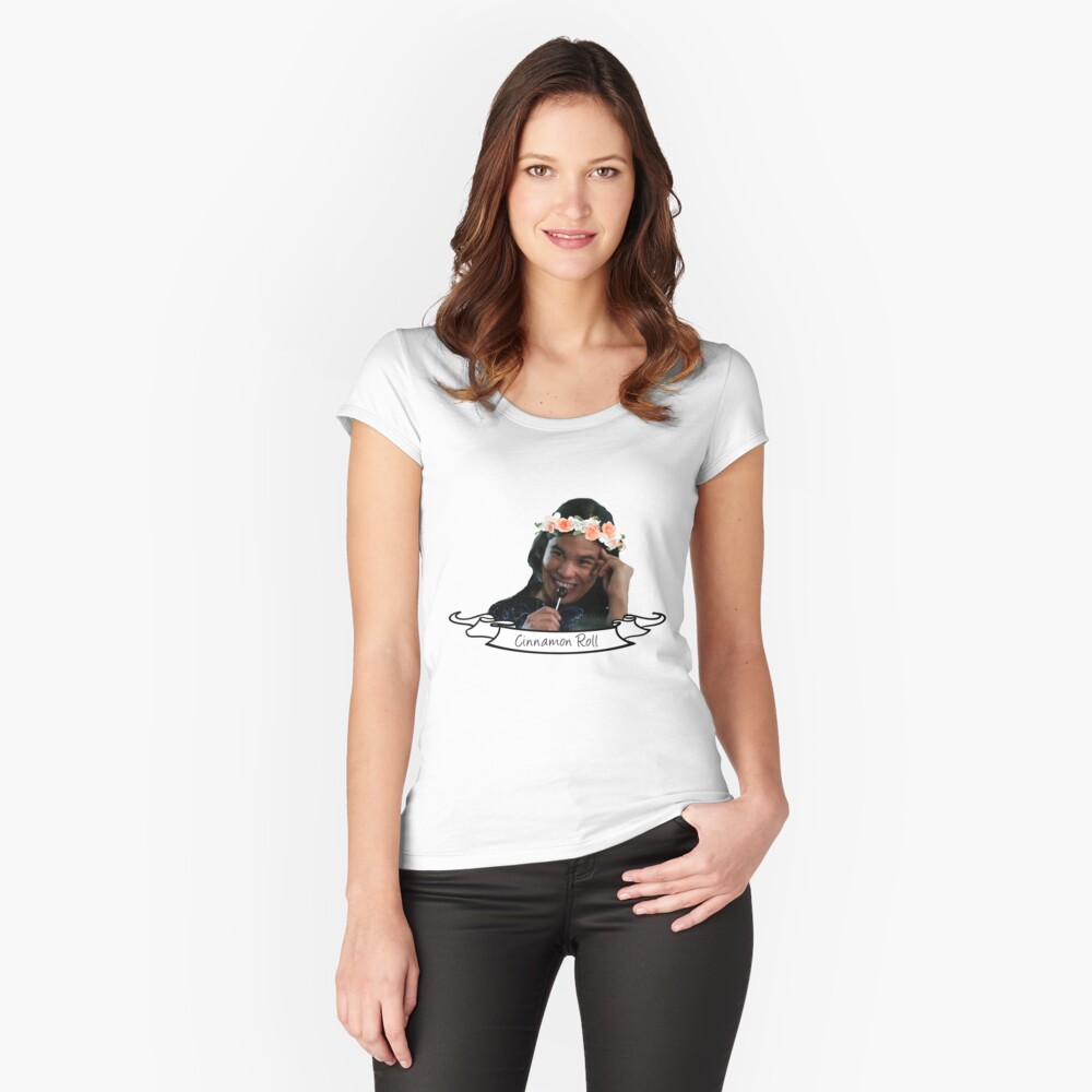 Cisco Ramon is a cinnamon roll Women's Fitted Scoop T-Shirt Front