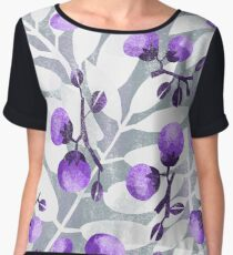 Purple Berries Chiffon Top