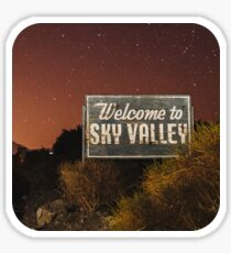 Welcome to Sky Valley - Desert Night Sticker