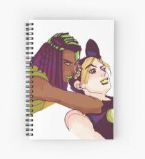 Jolyne and Hermes- Araki Sketch Color Spiral Notebook