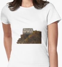 Welcome to Sky Valley - Signage Womens Fitted T-Shirt