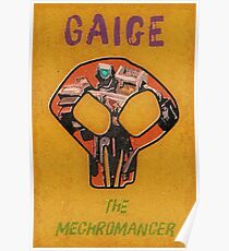 Gaige Vintage Borderlands Graphic Poster