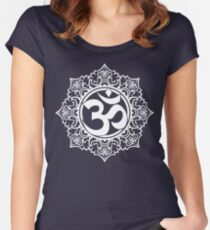 Ohm Symbol Meditation Symbol  Women's Fitted Scoop T-Shirt
