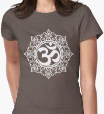 Ohm Symbol Meditation Symbol  Womens Fitted T-Shirt