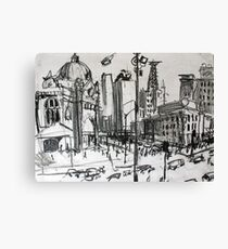 Rapid Sketch of Flinders Street, Melbourne Canvas Print