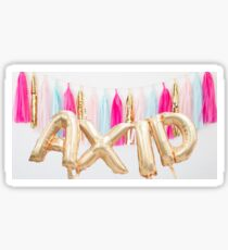 Axid ~ Gold Ballons Sticker