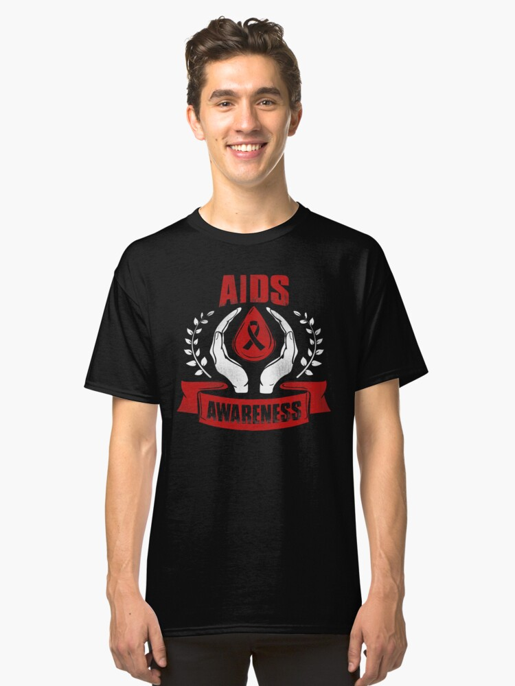 HIV and AIDS Awareness  Classic T-Shirt Front