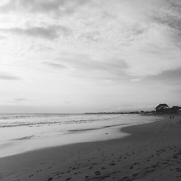 Bali Beach - Black + White by lachalexander