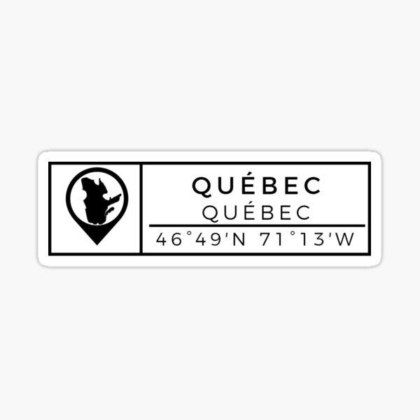 Québec / Ville du Québec Sticker