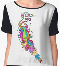 Abstract In My Mind Chiffon Top