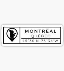 Montreal  Sticker