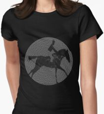 Muybridge Horse Spiral Art Womens Fitted T-Shirt