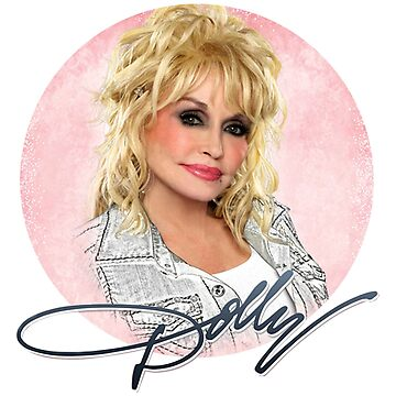 concert tour style tshirt doly parton white color poster by hujanairseger